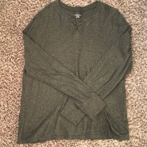 Men's Merona olive green long sleeve shirt